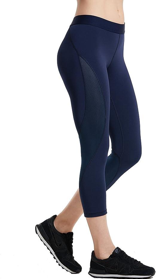 Image of SYROKAN - Pantalones Mallas Deportivas Fitness para Mujer (Corte de 3/4)