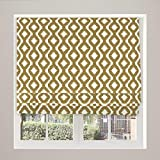 McAlister Textiles Arizona Curtains Sofa Blind Upholstery Fabric | Designer Geometric Pattern Aztec Chenille Ochre Mustard Yellow Material by the Metre | 100cm x 140cm (40' x 55')