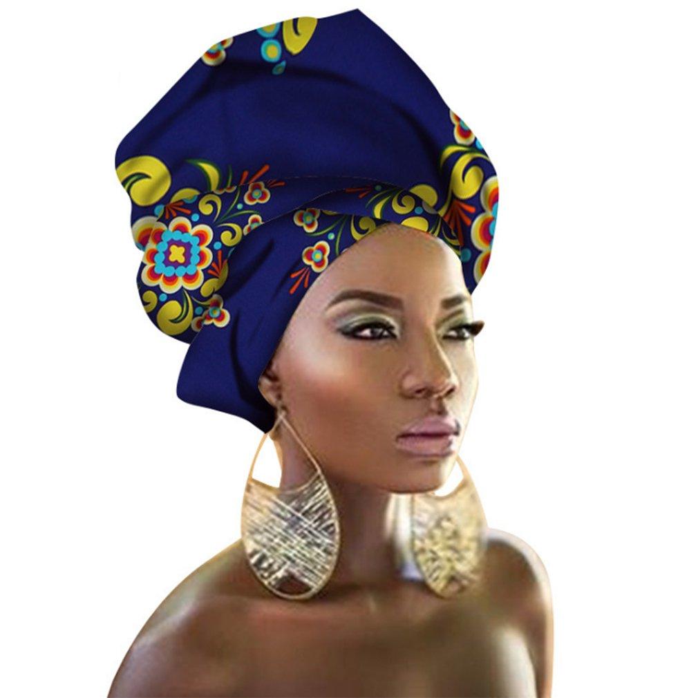 Kopftuch Mehrfarbig Chien TJ01 Haarband mit traditionellem afrikanischem Wachsdruck Schal Krawatte