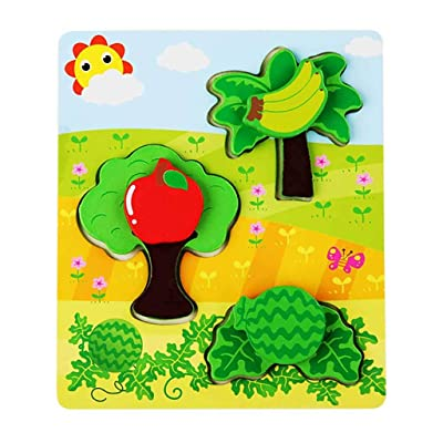 N/X Educational Toys Small Piece Puzzle Toy Children Animals Wooden Puzzles: Toys & Games [5Bkhe0501396]