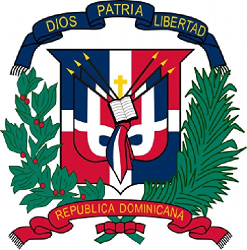 Dominican Coat Of Arms - Decal, Bumper Sticker
