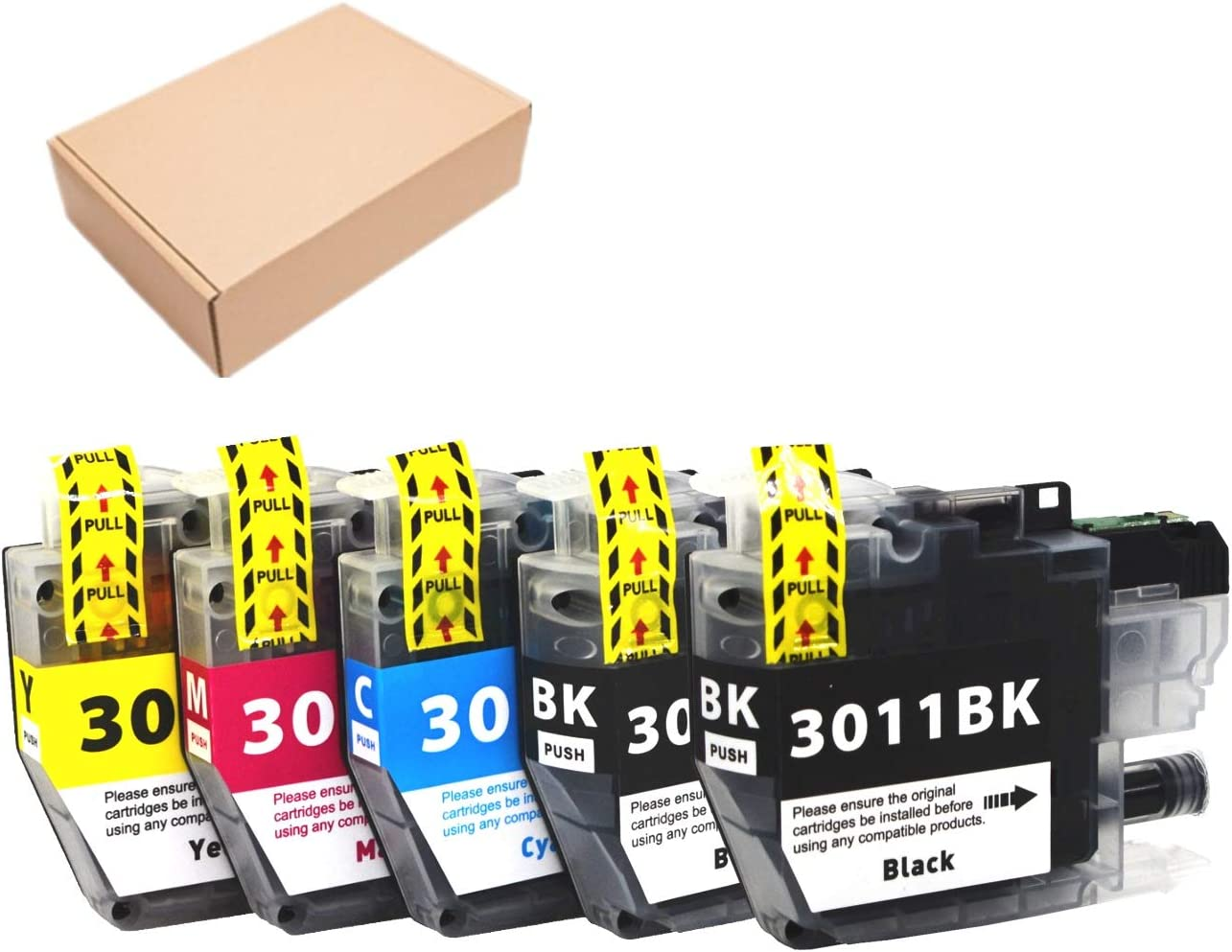 Black for Brother MFC-J491DW MFC-J497DW MFC-J690DW MFC-J895DW Printer JinHan Compatible for Brother LC3011 LC 3011 3011 High Yield Ink Cartridges