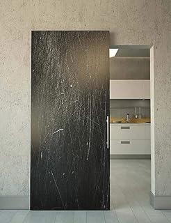 Porta scorrevole esterno muro BIANCO completa di binario e mantovana ...