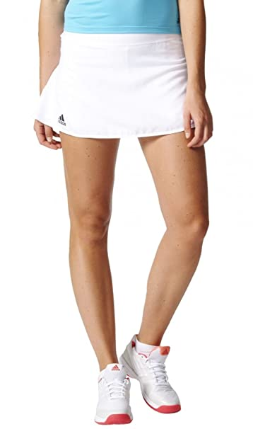 adidas Club Falda de Tenis, Mujer, Blanco (White/Black), M: Amazon ...