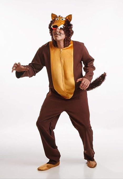 Disfraz de Lobo Marrón para Hombre talla Universal M-L: Amazon.es ...