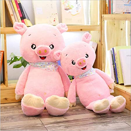 Pink Happy Pig Short Plush Toy Plush Animal Toy Plush Doll ...