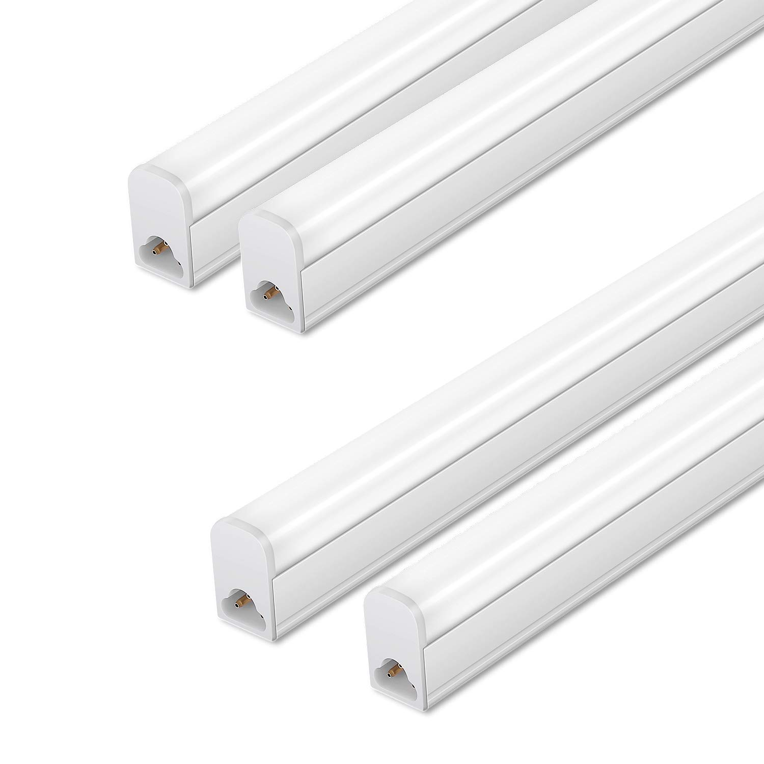 (Pack of 4) LED T5 Integrated Single Fixture,3FT,15W,6500K,1500lm, Linkable Utility Shop Lights, LED Ceiling & Under Cabinet Light, T5 T8 Fluorescent Tube Light Fixture Replacement by GDL HOME