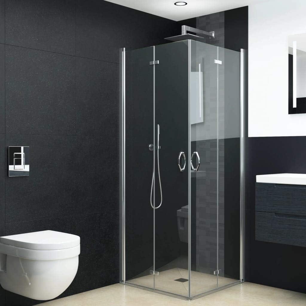 Cabina de ducha con puertas plegables ESG 80 x 70 x 185 cm: Amazon ...
