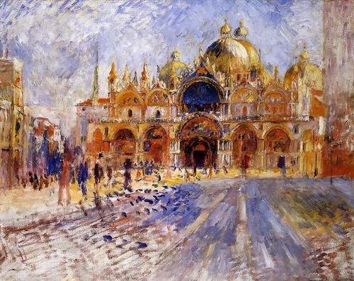 Pierre Auguste Renoir The Piazza San Marco Venice 91x72 [Kitchen]
