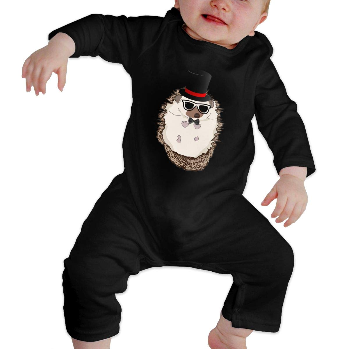 TREEWw Top Hat Hipster Hedgehog Unisex Baby Romper One Piece Jumpsuit 100/% Cotton Union Suit