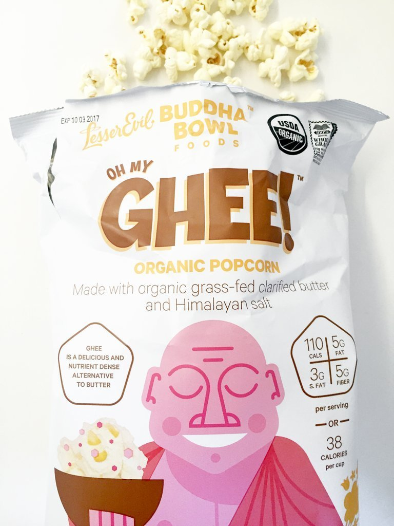 Buddha Bowl Popcorn Oh My Ghee Popcorn At least 95% Organic (pack of 12)