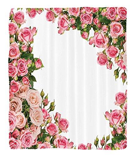 Led Zeppelin Beach Towel (Chaoran 1 Fleece Blanket on Amazon Super Silky Soft All Season Super Plush Roses Decorations Collection Rose Bushes Frame Bridalummer Park Occasions Decorative Artwork Fabric et Pink)