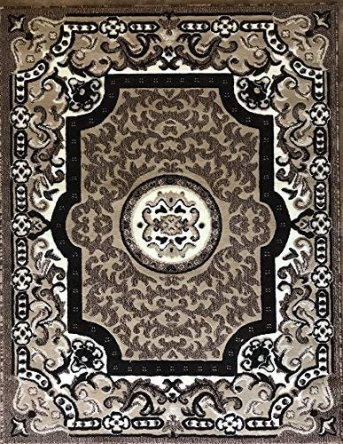 Traditional Area Rug Beige Brown Ivory Persian Carpet King Design 101 8 Feet X10 Feet 6 Inch