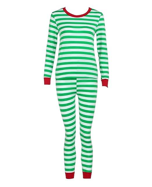 Pijamas de Navidad Familia Pijamas Parejas Navideñas Adultos Pijama Familiares Manga Larga Hombre Mujer Trajes Navideños