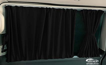 color: negro protecci/ón solar a partir de 2003 extralargas para distancia entre ejes Cortinas para Mercedes Vito Viano W639 2014