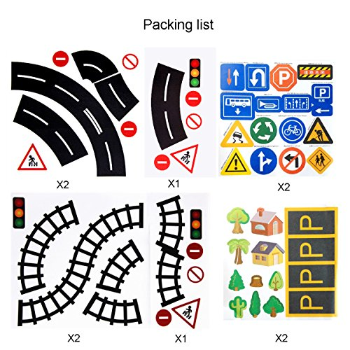 Play Road Tape Traffic Sign DIY Curves Tape 1.9