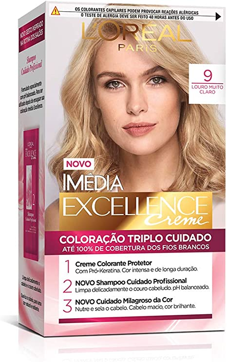 Coloração Imédia Excellence, L'Oréal Paris, Louro Muito Claro, L'Oréal Paris