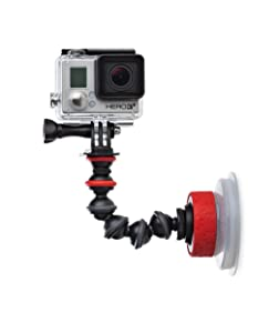 JOBY Suction Cup with GorillaPod Arm for GoPro HERO6 Black, GoPro HERO5 Black, GoPro HERO5 Session, Contour and Sony Action Cam