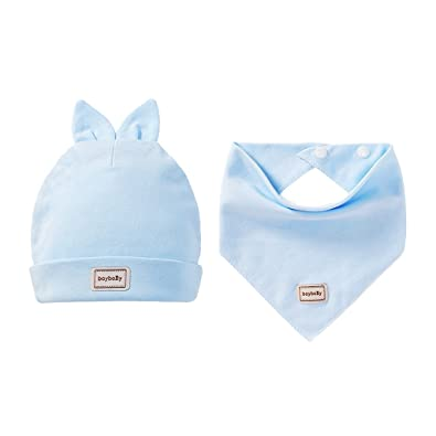 05b428ed3ee9 Amazon.com  D DOLITY Cute Kids Baby Toddler Boy Girl Hat Cap+Saliva ...