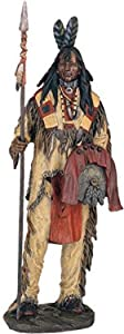 StealStreet SS-G-11360 Native American Warrior Collectible Indian Decoration Figurine Statue