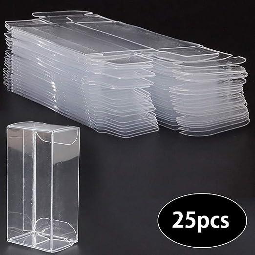 Cozyhoma - Caja de exhibición Transparente de 25 Unidades, Caja de ...