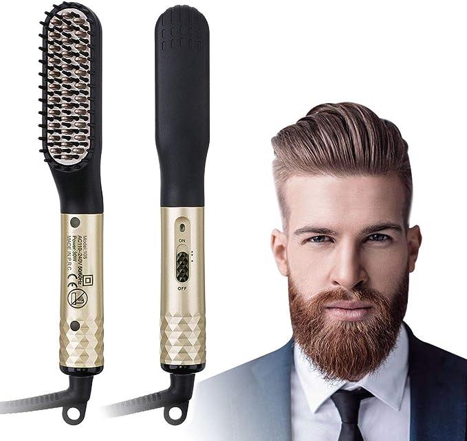 Barba Cepillo Alisador de Pelo, Alisador Barba Hombre,Profesional ...