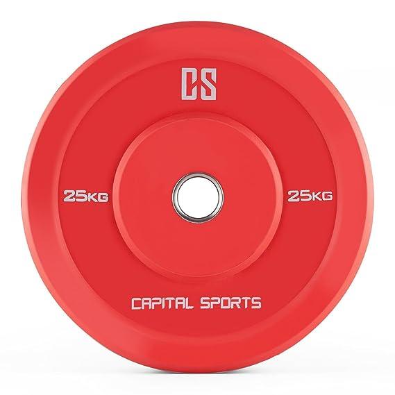 Capital Sports – Juego de 2 discos para mancuerna de plástico duro (apertura estándar de 50,4 mm) – 10 kg, 15 kg, 20 kg o 25 kg: Amazon.es: Deportes y aire ...