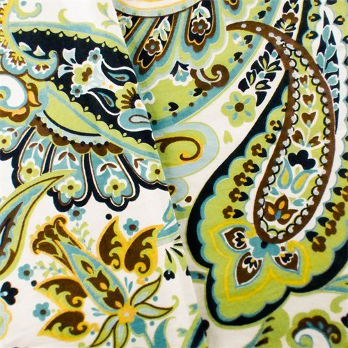 Green/Teal Designer Paisley Print Home Decorating Fabric, Fabric by The Yard ()