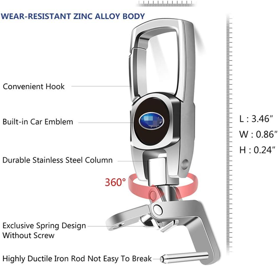 2 Pack Car Key Fob Key Chain Heavy Duty Keychain for Chevrolet Impala Camaro Traverse Silverado Z71 Upgrade Design