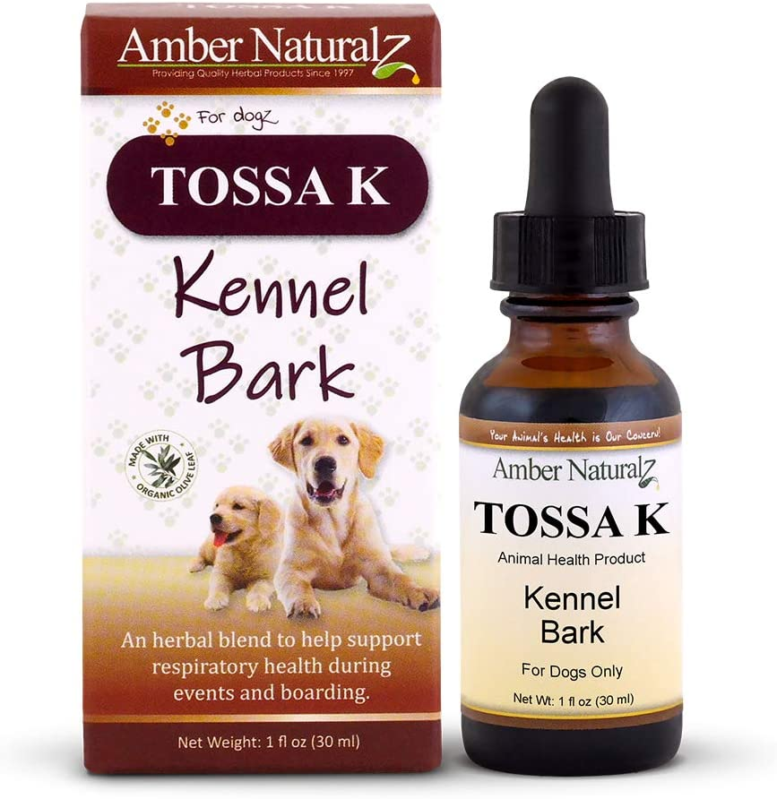 AMBER NATURALZ – TOSSA K – Kennel Bark – Respiratory Health – for Dogz – 1 Ounce