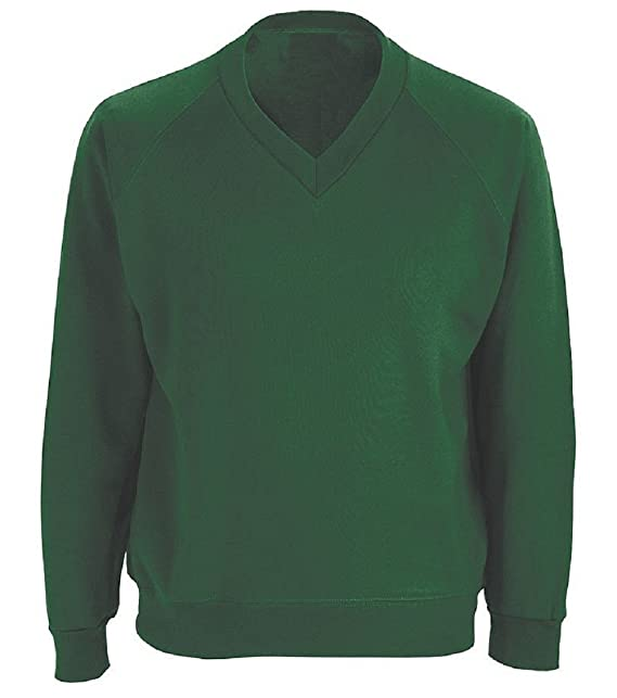 47d84da098c School Uniform V-Neck Jumper Sweatshirt  Amazon.co.uk  Clothing