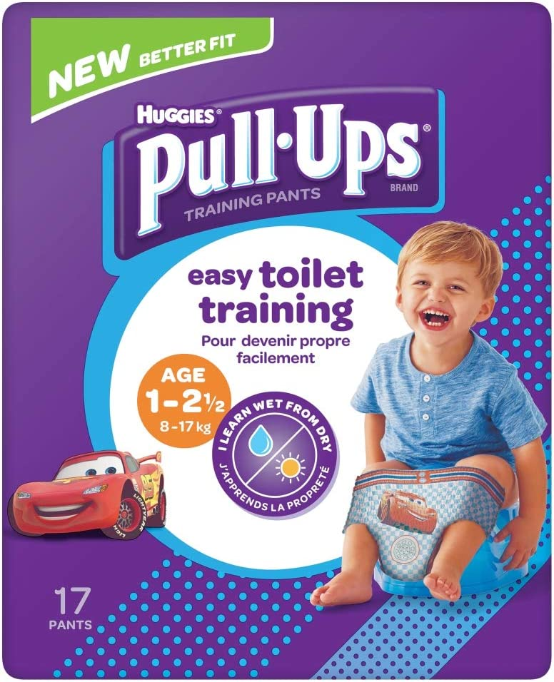 17 unidades HUGGIES Pull-Ups Boy 1-2,5 a/ños 8-17 kg
