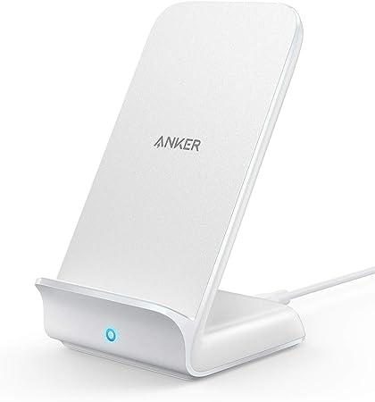 Anker PowerWave 7.5 Stand, Qi認証 ワイヤレス充電器 iPhone 8 / 8Plus / X / XR / XS / XS Max / Samsung Galaxy / LG 対応 5W & 7.5W & 10W 出力 ホワイト