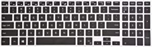 Leze - Keyboard Cover for Dell Inspiron 15 3000 5000 7000 Series, Inspiron 17 5000 Series, 15.6