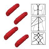 【NexsuS】縄 拘束ロープ 4本セット 8mm×10m SM ソフトツイスト 返金保証付き