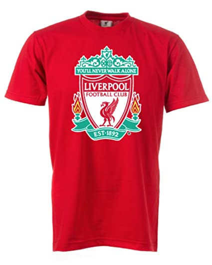 b9c9651fafb Amazon.com : Anfield Shop Official Liverpool FC Red Core T-Shirt ...