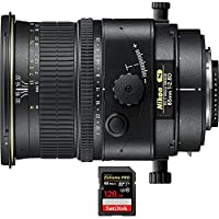 Nikon PC-E Micro NIKKOR 85mm f/2.8D Lens (2175) with Sandisk Extreme PRO SDXC 128GB UHS-1 Memory Card, Up to 95/90MB/s Read/Write Speed