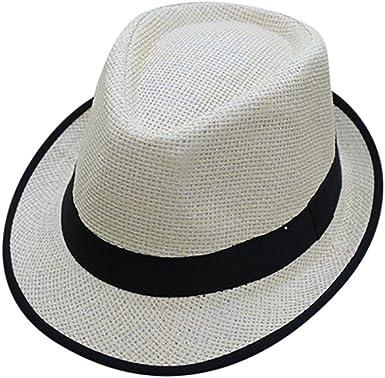 Unisex Fedora Hats Men Women Sun Summer Beach Straw Hat Jazz Panama Cuban Trilby Gangster Cap