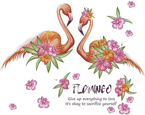 Flor De Flamenco Apasionada De Dibujos Animados Pegatinas De Pared ...