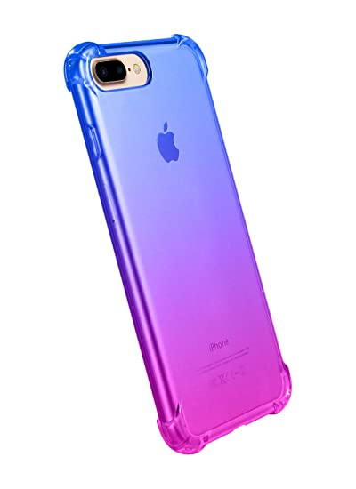 official photos 58aea 2a707 iPhone 7 Plus Case,iPhone 8 Plus Case,CLONG iPhone 7 Plus/8 Plus Colorful  Clear Shockproof Protective Cover Transparent Soft TPU Gel Cases for Apple  ...