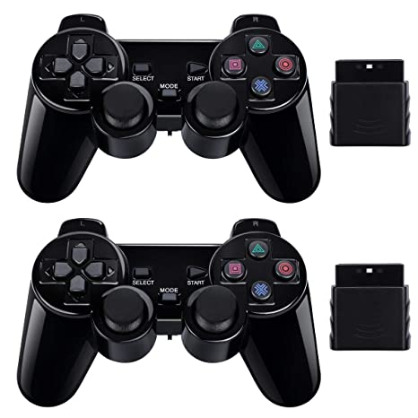 amazon com 2 pack wireless controller 2 4g compatible with sony