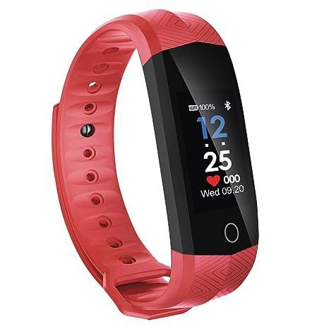 Cebbay Reloj Inteligente Pulsómetro Impermeable Sports Fitness Tracker Smart Wrist Pulsera Actividad para Android y iOS