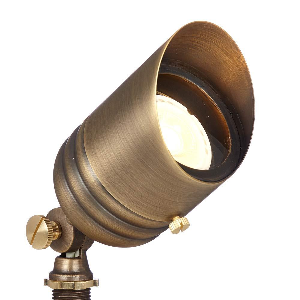 VOLT Fat Boy 12V Brass Spotlight with LED Bulb