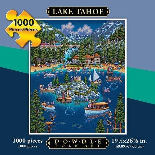 Jigsaw Puzzle Lake Tahoe 1000 Pc By Dowdle Folk Art by Dowdle Folk Art