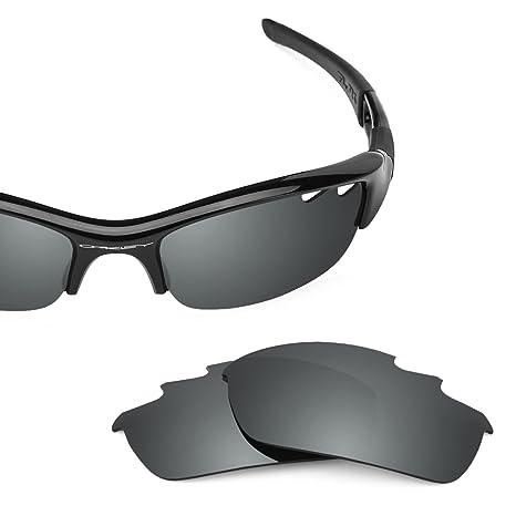 94ffec8786c Revant Polarized Replacement Lenses for Oakley Flak Jacket Vented Elite  Black Chrome MirrorShield