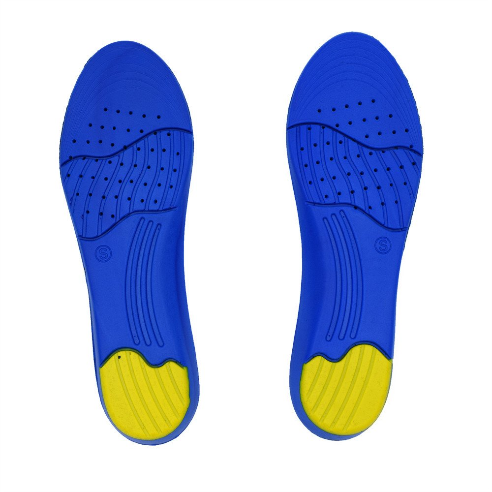 Fxbar Creative Memory Foam Orthotics Shoe Insoles, Arch Pain Relief Insert Pad Foot Care Cushion, 1 Pair of Thin Section Slow Rebound Sports Insole (Blue)
