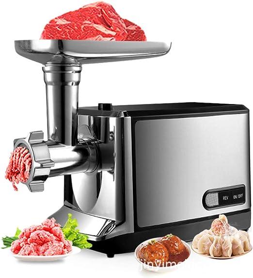 Fleischwolf Elektrischer Wurstmaschine Wurstfuller Mit Wurstaufsatz Und Edelstahlklinge Spritzgeback Maschine Amazon De Kuche Haushalt