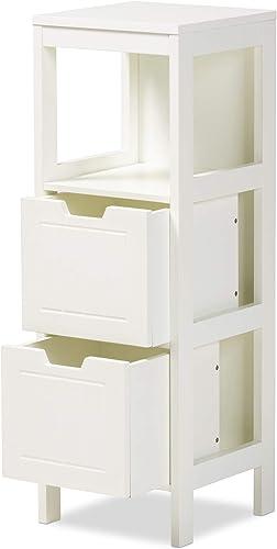 Baxton Studio Multipurpose Shelving and Cabinets, White