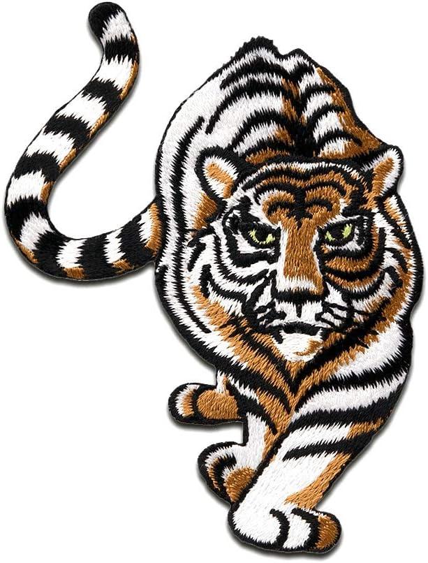 Parches - tigre está a escondidas animal - blanco - 8,8x7cm ...