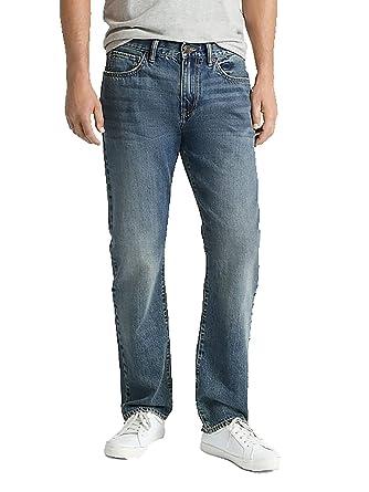 Gap Denim Mens Straight Mid Rise Dark Indigo Jeans At Amazon Men S